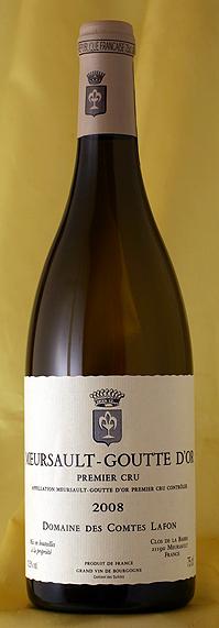ムルソー ラ・グット・ドール [2008]Meursault Goutte d'Or 750mlコント・ラフォン Comtes Lafonフランス ブルゴーニュ ワイン 白