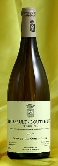 ムルソー・ラ・グット・ドール[2002]Meursault La Goutte d`Or 750mlコント・ラフォン Comtes Lafon※写真は2004年フランス ブルゴーニュ ワイン 白