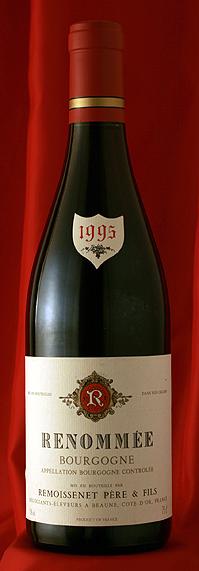 ブルゴーニュ・ルノメ・ルージュ[1989]Bourgogne Renomee Rouge 750mlルモワスネ Remoissenet
