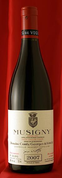 ミュジニー V,V Musigny Vieilles Vignes [2007] 750mlコント ジョルジュ ド ヴォギュエ Comtes Georges de Vogueフランス ブルゴーニュ ワイン 赤