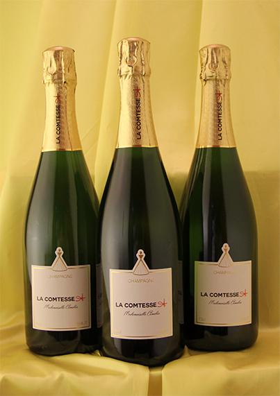 3本セットで約3%お得!しかも送料無料! 蔵出しシャンパン(白)[ [NV]マドマゼール キャメリア Mademoiselle Cameliaフランス シャンパン ワイン スパークリング