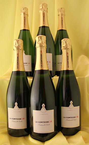 6本セットで約5%お得!しかも送料無料! 蔵出しシャンパン(白)[NV]マドマゼール キャメリア  Mademoiselle Cameria