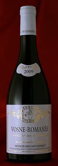 蔵出し ヴォーヌ・ロマネ [2009]Vosne Romanee 750mlモンジャール・ミュニュレ Mongeard Mugneret