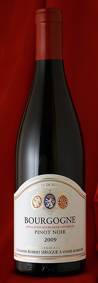 【12本セットで送料無料!】ブルゴーニュ・ピノ・ノワール[2012] Bourgogne Pinot Noir 750mlロベール・シルグ Robert Sirugue