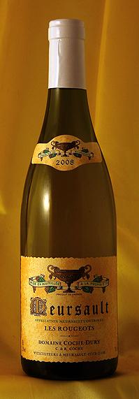 ムルソー レ・ル-ジョ[2008]Meursault les Rougeots 750mlドメーヌ J・F コシュ・デュリ Domaine JF.Coche-Duryフランス ブルゴーニュ ワイン 白
