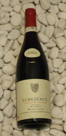 Echezeaux エシェゾー [1981]750mlアンリ・ジャイエ Henri Jayer