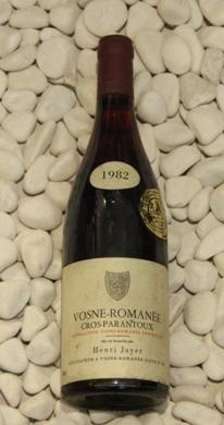 Vosne Romanee 1er Cros-Parantoux ヴォーヌ・ロマネ 1er クロ・パラントゥ[1982]750mlアンリ・ジャイエ Henri Jayer