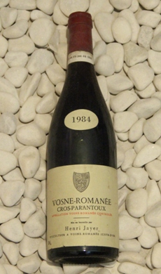 Vosne Romanee 1er Cros-Parantoux ヴォーヌ・ロマネ 1er クロ・パラントゥ[1984]750mlアンリ・ジャイエ Henri Jayer