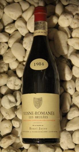 Vosne Romanee les Brulees 1er ヴォーヌ・ロマネ レ・ブリュレ 1er [1984]750mlアンリ・ジャイエ Henri Jayer