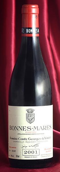 ボンヌ・マールBonnes Mares[2001] 750mlコント ジョルジュ ド ヴォギュエ Comtes Georges de Vogueフランス ブルゴーニュ ワイン 赤