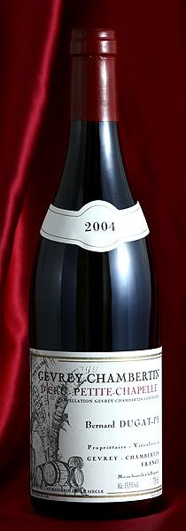 ジュヴレイ・シャンベルタン プティ・シャペル[2004] Gevrey Chambertin Petit Chapelle 750mlデュガ・ピィ Dugat-Pyフランス ブルゴーニュ ワイン 赤
