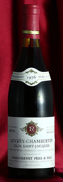 RemoissenetGevrey Chambertin Clos Saint Jacques [1983]750mlジュヴレ・シャンベルタン・クロ・サン・ジャック[1983]750mlルモワスネ Remoissenetワイン フランス ブルゴーニュ 赤