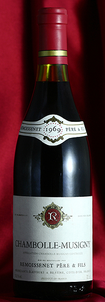 シャンボール・ミュジニー[1967]Chambolle Musigny 750mlルモワスネ Remoissenetワイン フランス ブルゴーニュ 赤
