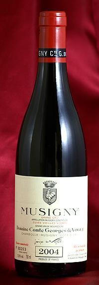 ミュジニー V,V Musigny Vieilles Vignes [2004] 750mlコント ジョルジュ ド ヴォギュエ Comtes Georges de Vogueフランス ブルゴーニュ ワイン 赤