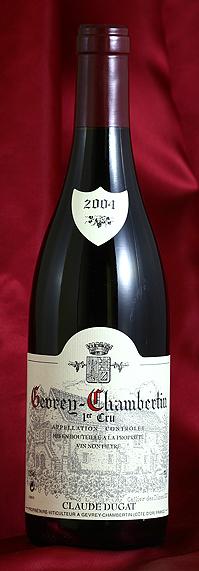 ジュヴレイ・シャンベルタン・プルミエ・クリュ[2004] Gevrey Chambertin Premier Cru 750mlクロード・デュガ Claude Dugatフランス ブルゴーニュ ワイン 赤