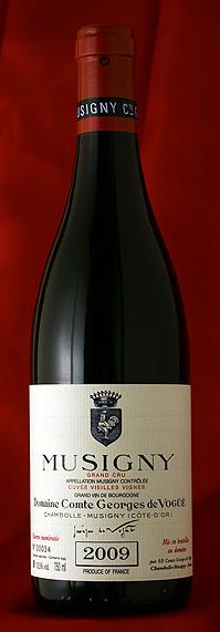 ミュジニー V,V Musigny Vieilles Vignes [2014] 750mlコント ジョルジュ ド ヴォギュエ Comtes Georges de Vogueフランス ブルゴーニュ ワイン 赤※写真は2009