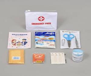 【救急箱】【応急処置】 白十字救急セットポーチ <BR><BR>[ 防災グッズ/セット/防災セット/家族/震災グッズ/地震対策 ]<BR><BR>オフィス、ご家庭の一角に備えて安心。アウトドア、キャンプにも。