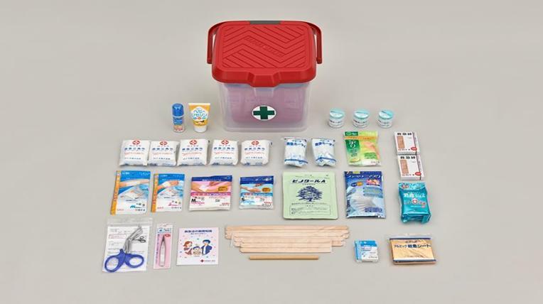 【救急箱】 白十字防災救急セット:5~10人用・バケツタイプ [応急処置] 【防災グッズ/セット/家族/震災グッズ/地震対策】※職場、ご家庭、アウトドア、キャンプに。