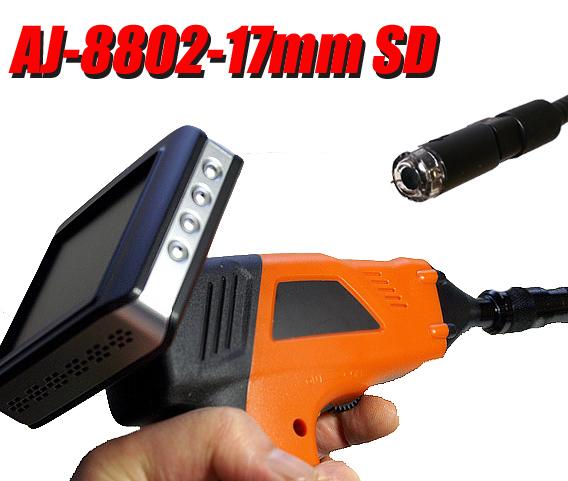 ファイバースコープ カメラ インスペクションカメラ 先端17mm 内視鏡 狭所 暗部 深所 暗所 検査 作業 工具