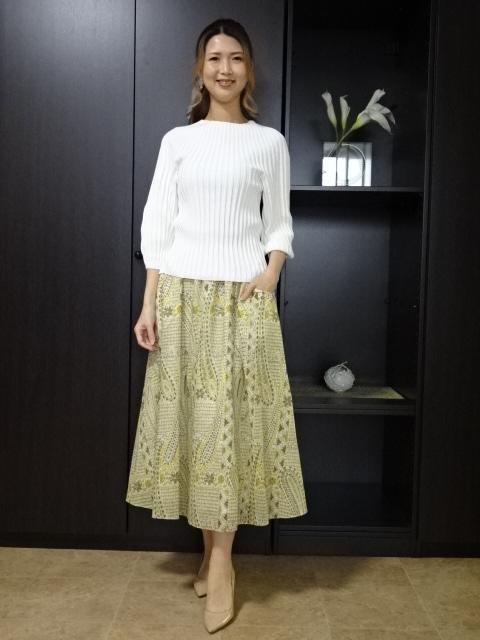 ☆ペイズリー柄のギャザースカート☆ 2021年春夏新作 大放出セール デュアルビュー スカート VIEW DUAL 世界の人気ブランド