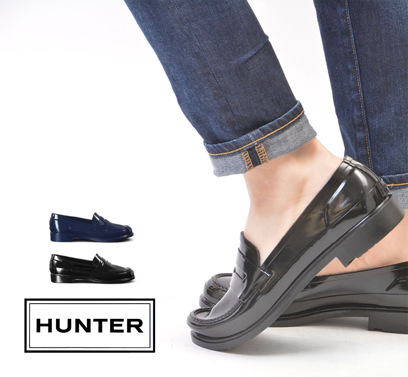 221462ae882 HUNTER hunter ORIGINAL PENNY LOAFER original penny loafer  lady s   black