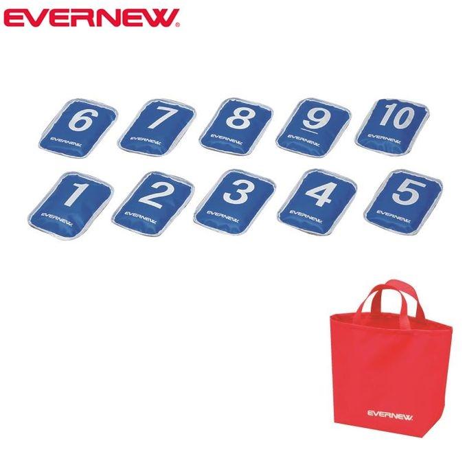 【5%OFFクーポン発行中】EVERNEW エバニュー ETE093 700 青 カラーターポリンバッグ(10個組)