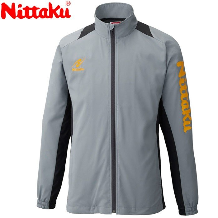 日本卓球 Nittaku NW-2856 卓球 ウェア(ユニ) ブレアスシャツ/BREATH SHIRT グレー NW-2856