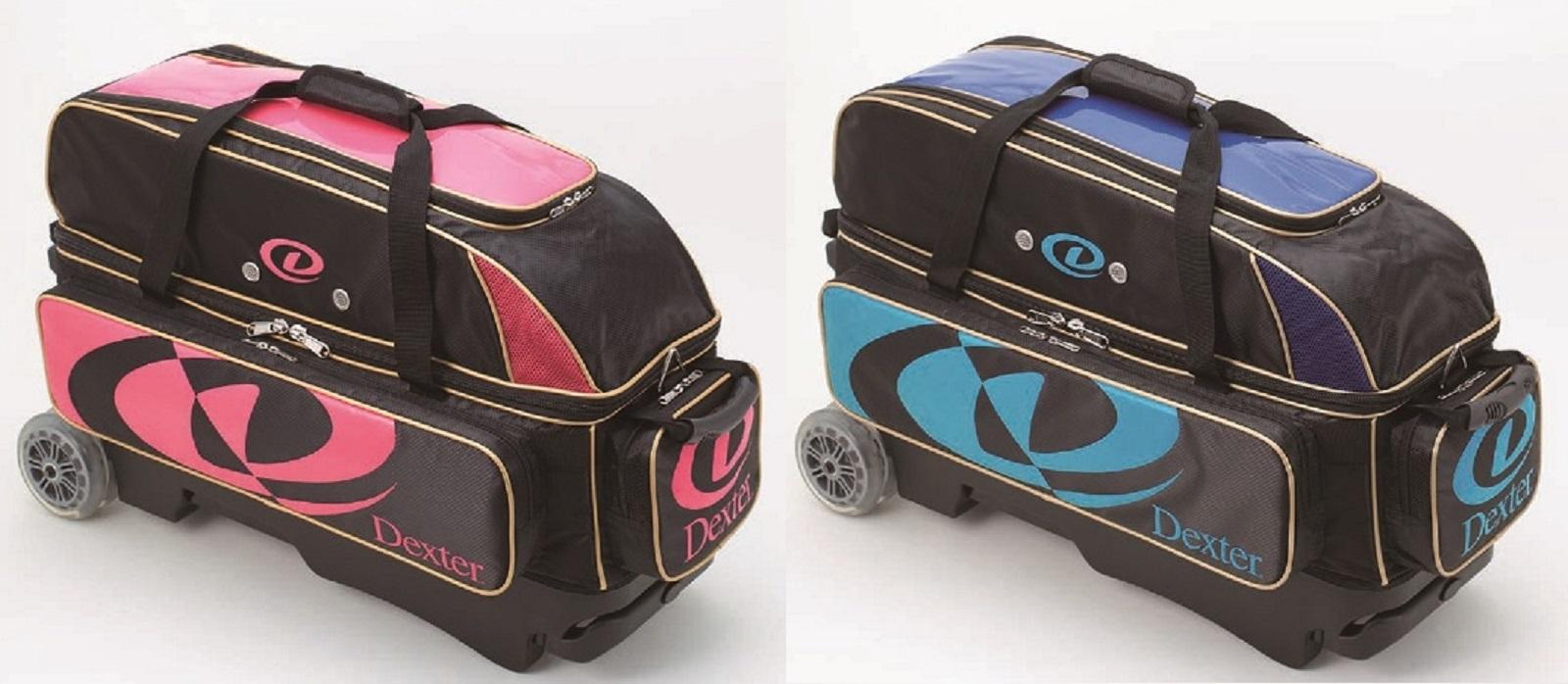 Dexter ボウリングバッグ トリプルローラーバッグ 全2色 【ボウリング用品】