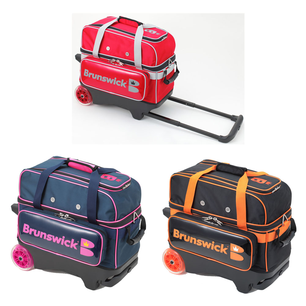 Brunswick Bisou(ビズ) Dキャリー ブランズウィック ボウリング バッグ 2個入 ボウリング用品 ボーリング グッズ