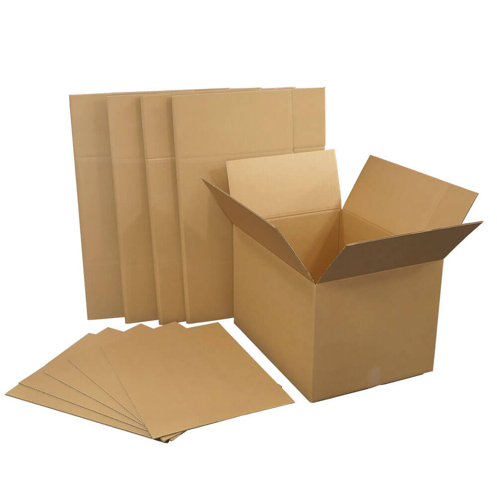 For the corrugated cardboard (corrugated cardboard) 160 size five pieces  set (two fold delivery) moving, delivery (strength K6, 160 g of middle