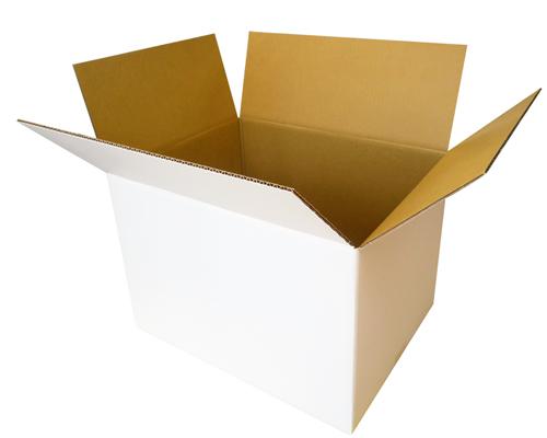 Package (white corrugated cardboard, white cardboard box, white corrugated  cardboard) corrugated cardboard corrugated cardboard cardboard box