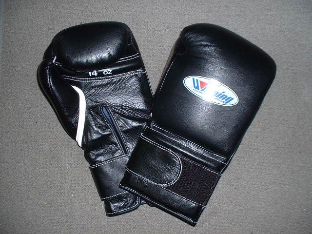 winning gloves  【IN STOCK 】  WINNING 14 oz. boxing gloves with velcro closure(professional type)   MS-500-B