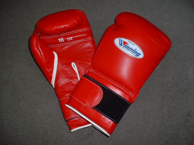 winning gloves Winning ウイニング練習用ボクシンググローブ(プロタイプ)マジックテープ巻式16オンスボクシンググローブ