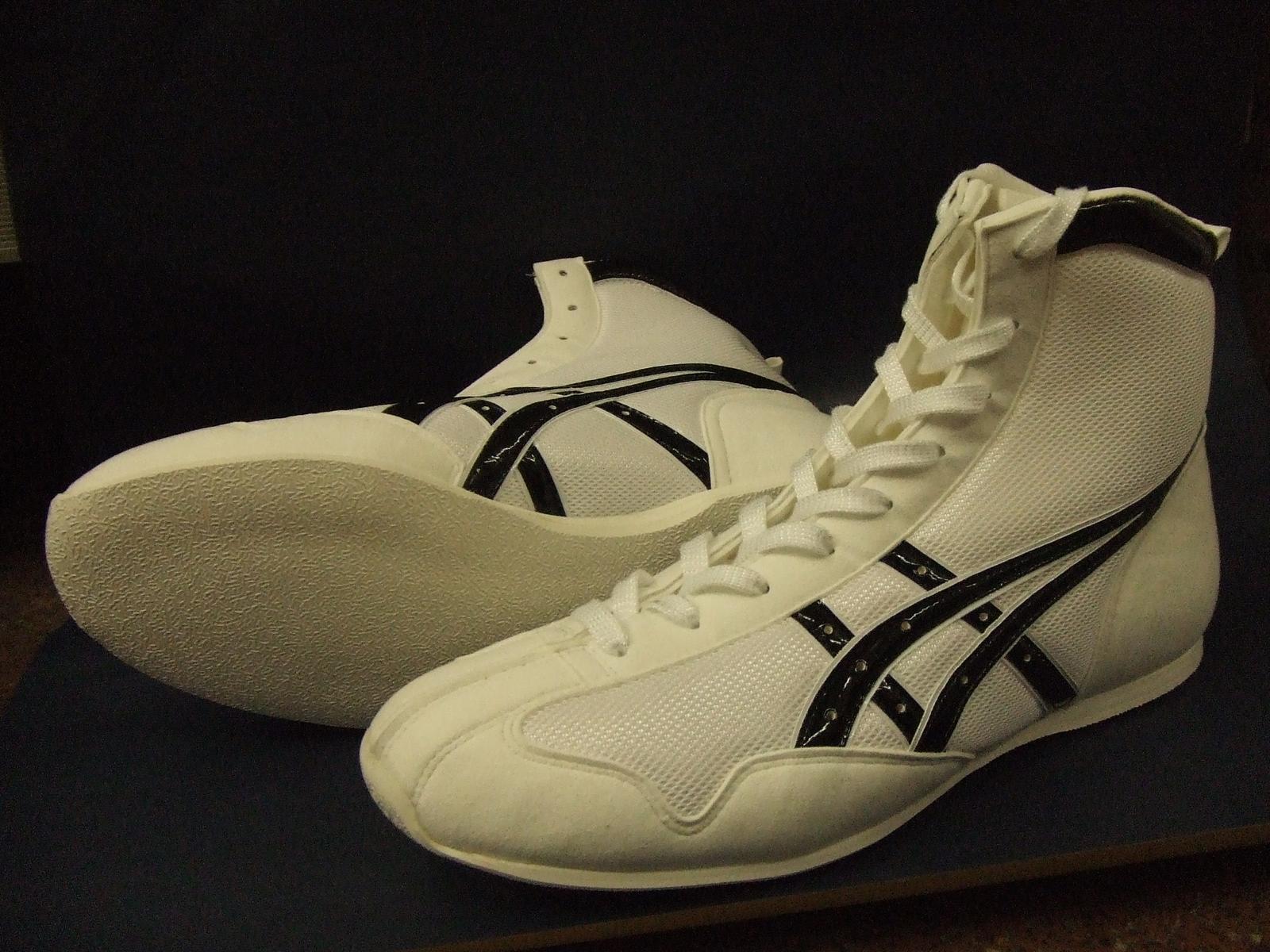 【受注生産約40日でお届け】アシックスショートボクシングシューズアメリカ屋オリジナルカラー 白×黒
