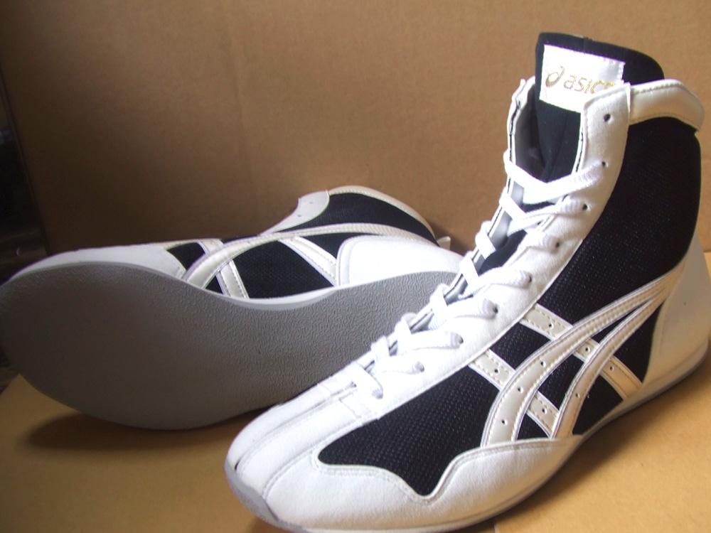 アシックスショートボクシングシューズ アメリカ屋オリジナルカラー黒xパールホワイト