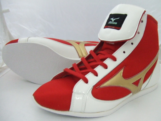 With Mizuno short boxing shoes (our store original red x white X gold) original shoes bag (boxing article, ring shoes)
