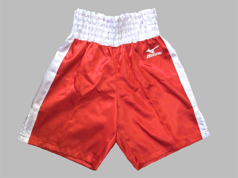 【SSサイズ】サテン ミズノボクシングパンツ(赤x白)