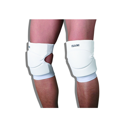 Knee guard is black-and-white