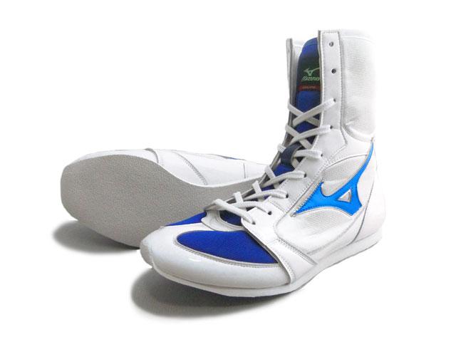 With Amerikaya original color Mizuno boxing shoes (white x metal blue line) original shoes bag