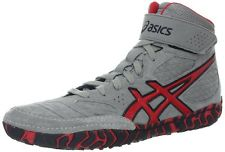 asics wrestling shoes AGGRESSOR gray x red
