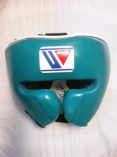 【特別価格】Winning おすすめヘッドギア特別カラー・グリーンウイニング練習用ヘッドガードフェイスガードタイプ