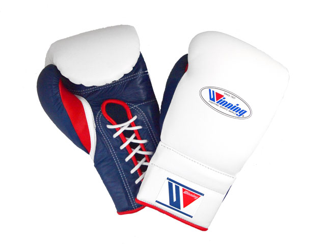 LIMITED ITEM  IN OUR STOCK     AMERICA-YA  WINNING 16 oz boxing gloves White x Navy x Red for professional use
