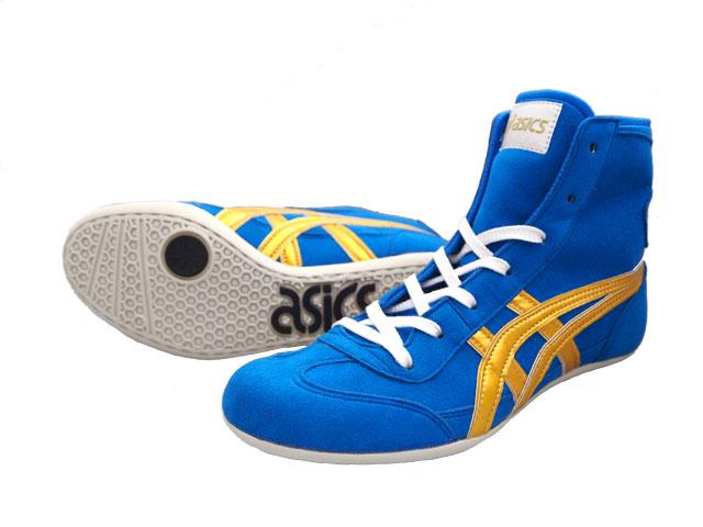 cf247ab6af506b AMERICA-YA  ASICS EX-EO Wrestling Shoes BLUE x gold AMERICA-YA ...