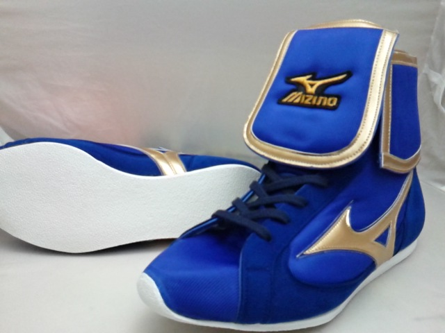 Mizuno Boxing shoes AMERICA-YA original (blue / gold)  for professional use