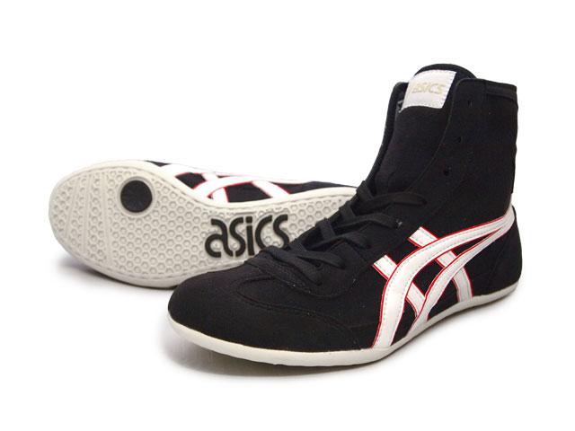 アシックス EX-EO 【一部サイズ即納します】現在一部在庫あり レスリングシューズブラックxパールホワイトxレッドアメリカ屋オリジナルカラー