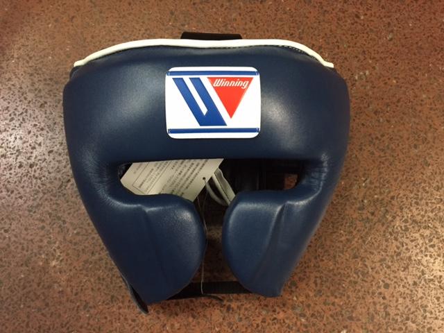 【特別価格】Winning おすすめヘッドギア特別カラー・ネイビーウイニング練習用ヘッドガードフェイスガードタイプ