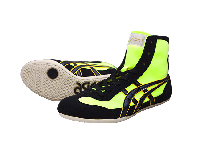 fc65fd3f6b3b13 ASICS EX-EO wrestling shoes yellow x black Amerikaya original color for  professional use