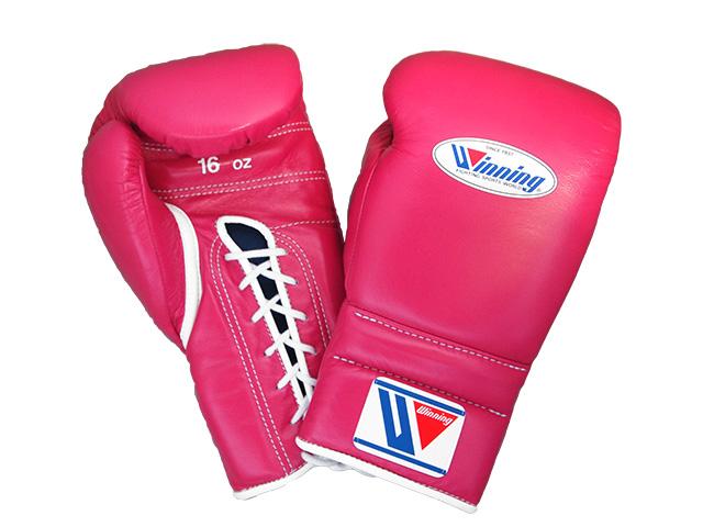 16オンス 濃いピンク Winning ウイニング練習用 ボクシング グローブ (プロタイプ)