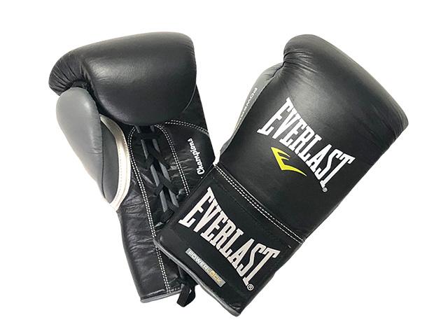 EVERLAST POWERLOCK公式試合用ボクシンググローブ8オンス 黒xグレー