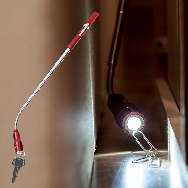 24時間限定 当店全商品ポイント5倍 さらに本日終了 すぐに使える 絶対お得な3%OFFクーポン配布中 伸びる マグネット付き LEDライト 超激安 伸縮式 ライト 全長38 cm フレキシブルアーム ライト部分に金属がくっつく 乾電池式 暗い隙間 のび~る 磁石 棒 検索: ラクラク 懐中電灯 非常灯 ペン型 アウトドア のびーるスマートライトMT 作業灯 まとめ買い 実物